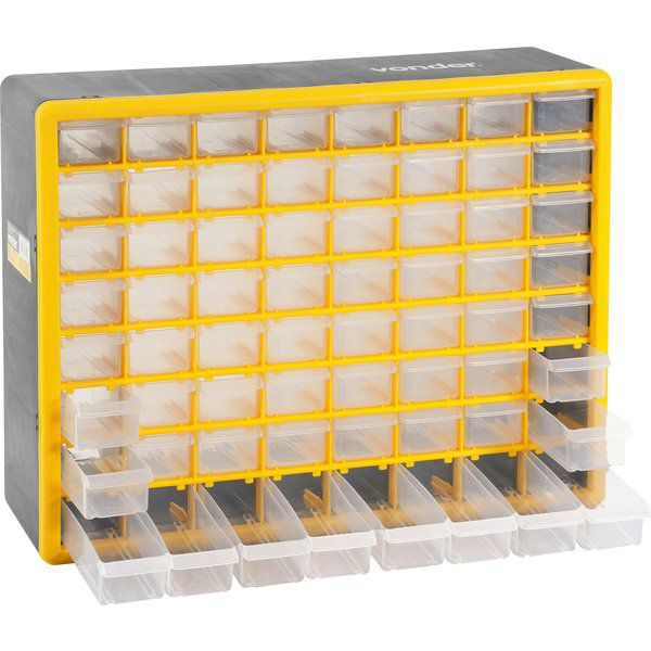 Organizador Plástico 64 Gavetas 50X16X40CM OPV 310 - Vonder