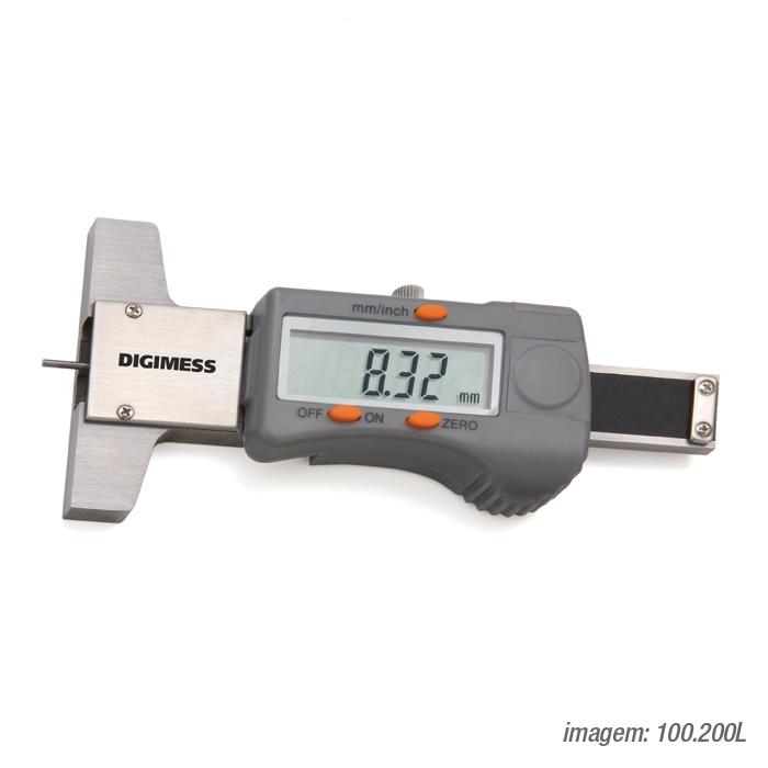 Paquímetro de Profundidade Digital 30mm 100.200L - Digimess