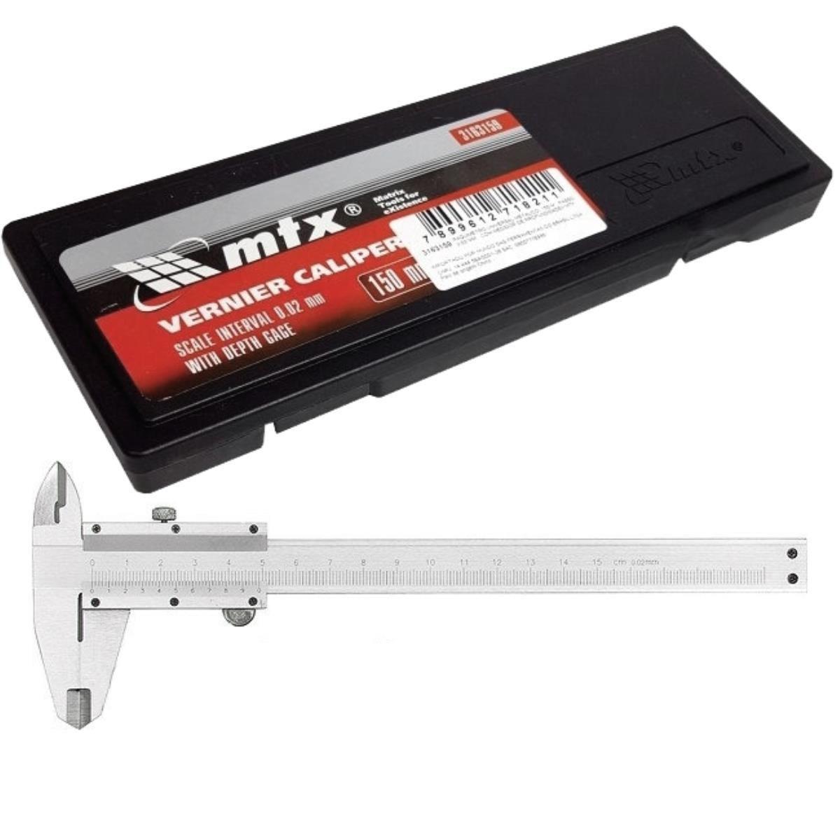 Paquímetro Universal 150mm C/ Medidor de Profundidade 3163159 – MTX