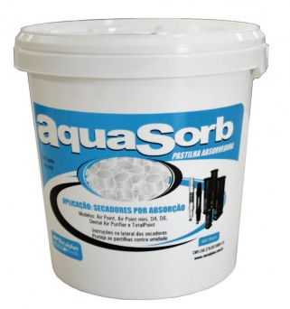 PASTILHA ABSORVEDORA PARA/SECADOR AIR POINT 3KG AQUASORB
