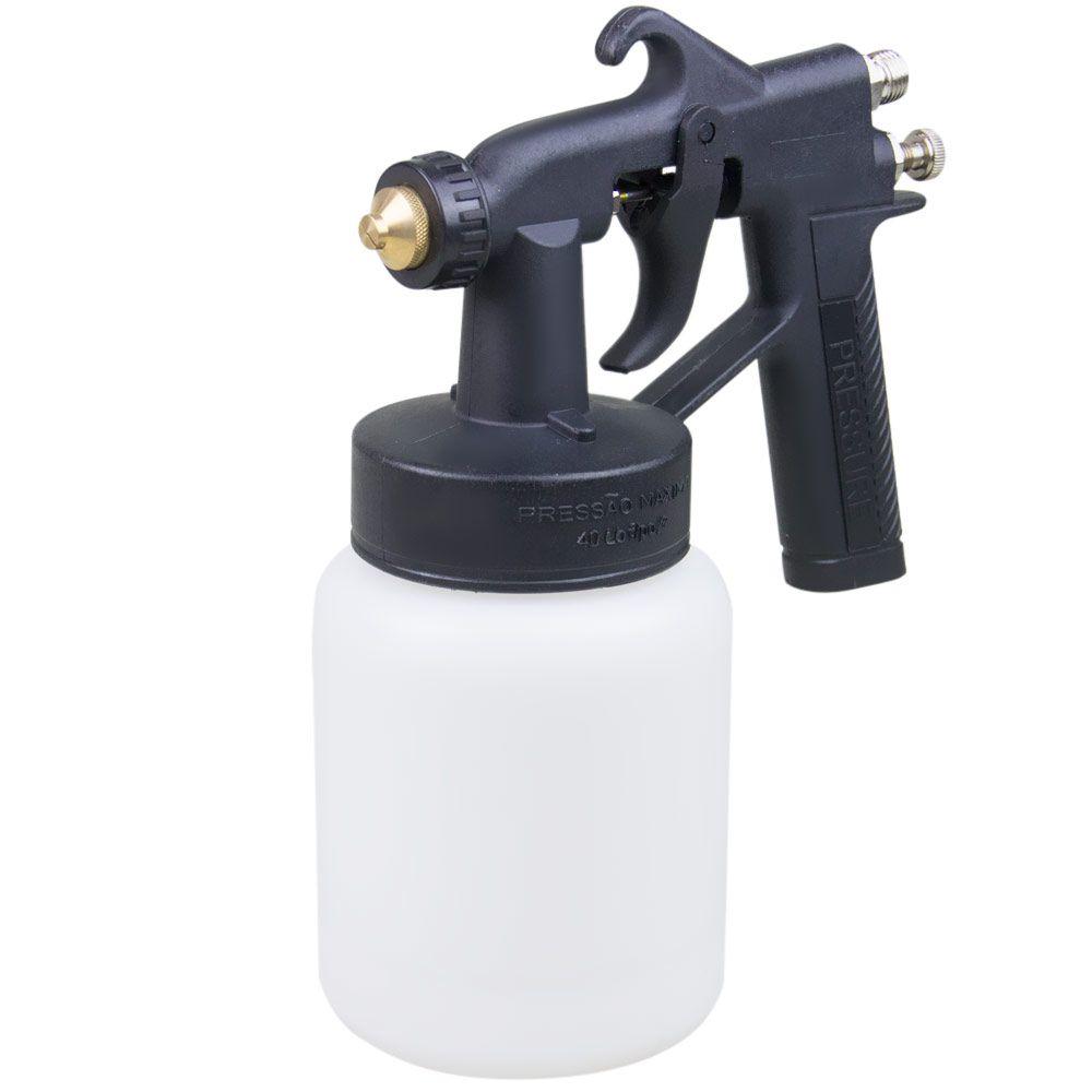 Pistola de Pintura c/ Caneca de Nylon PSD02 - PRESSURE