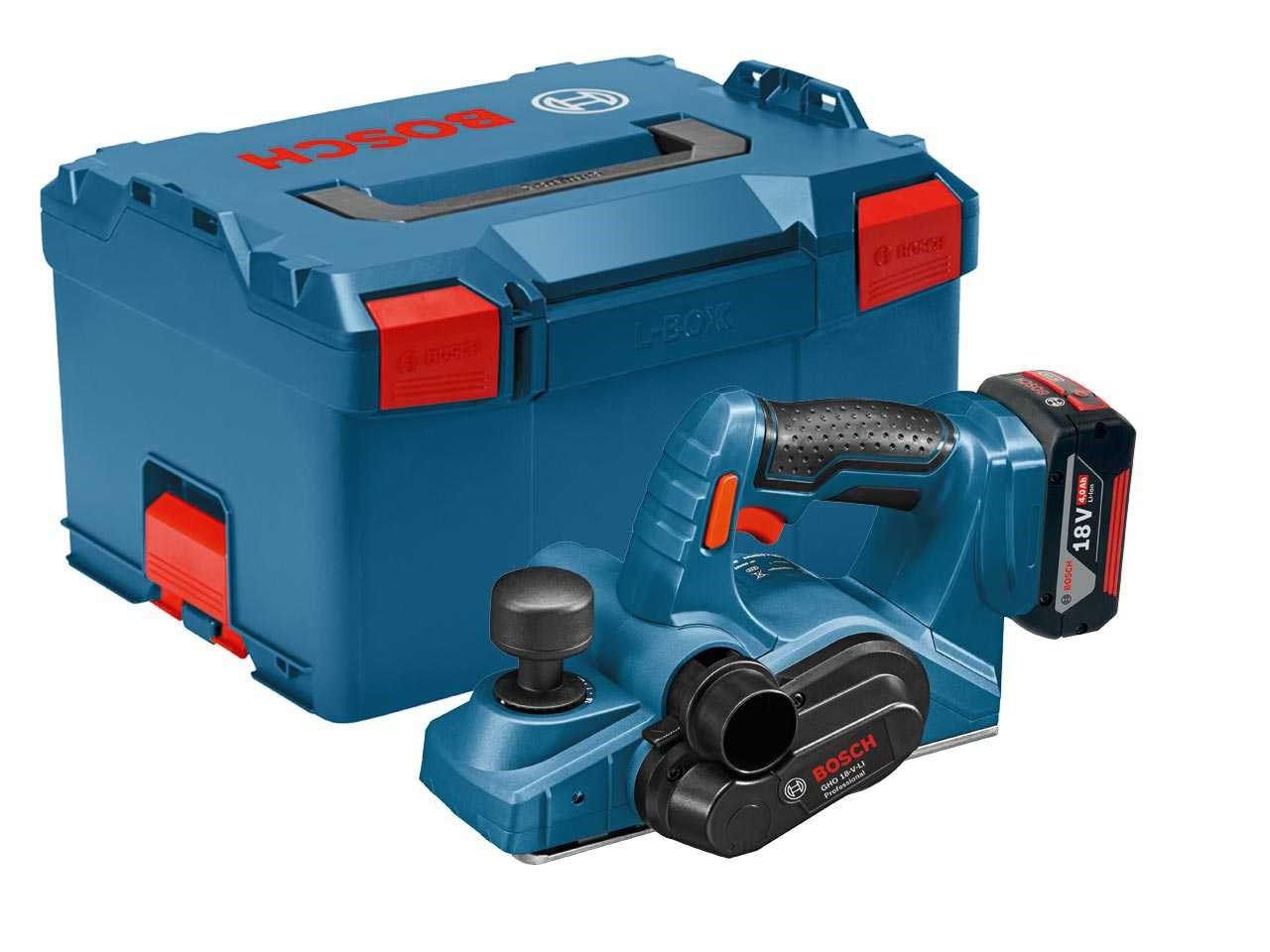 Plaina 82mm a Bateria GHO18V-LI + 2 Baterias 18V e Carregador – Bosch