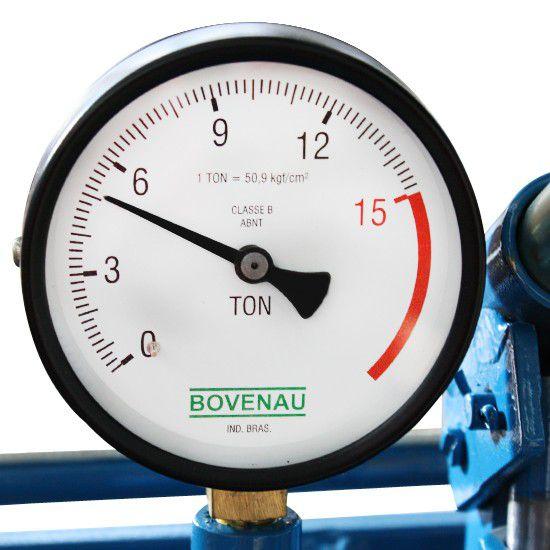 Prensa Hidráulica 15 Toneladas P 15000 c/ Manômetro - BOVENAU