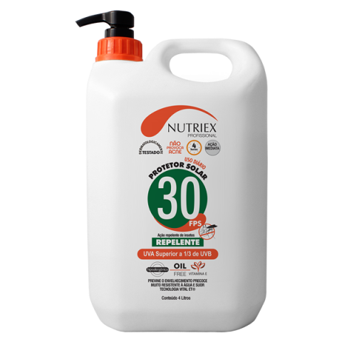 Protetor Solar C/ Repelente 4 Litros FPS30 - NUTRIEX