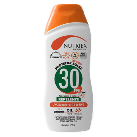 Protetor Solar FPS30 Com Repelente 120ML - NUTRIEX