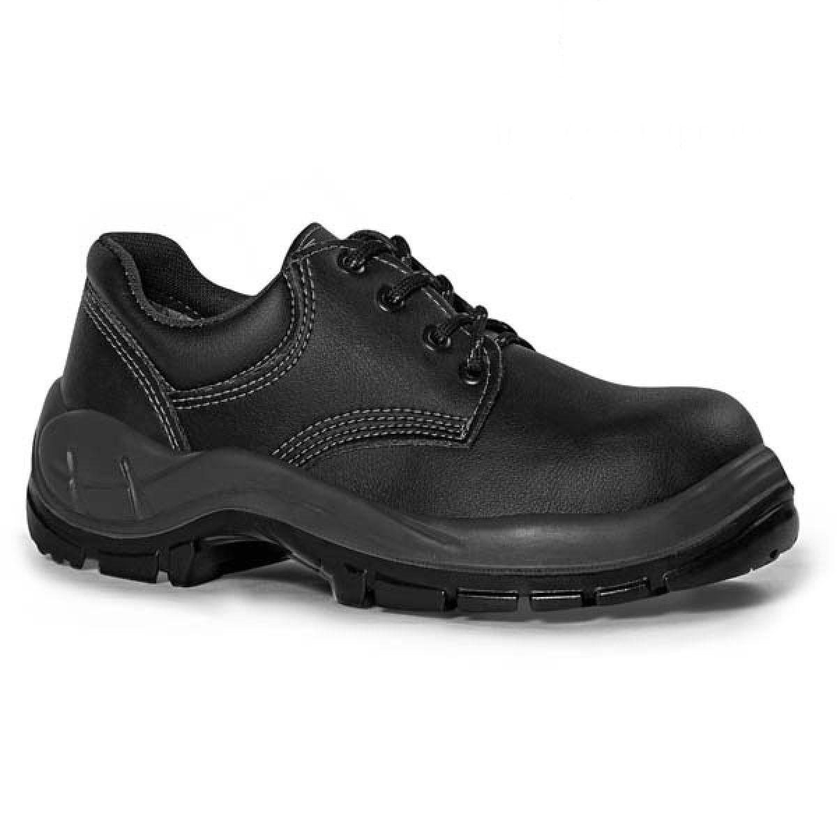 Sapato c/ Cadarço Bidensidade s/ Bico de Aço Preto N°39 - BRACOL