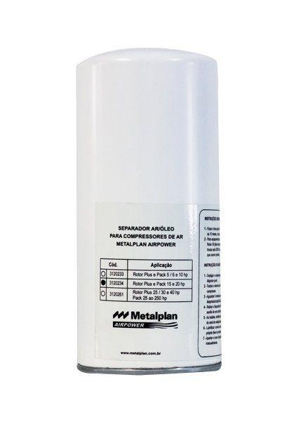 Separador de Ar e Óleo P/Compressores 3120234 - Metalplan