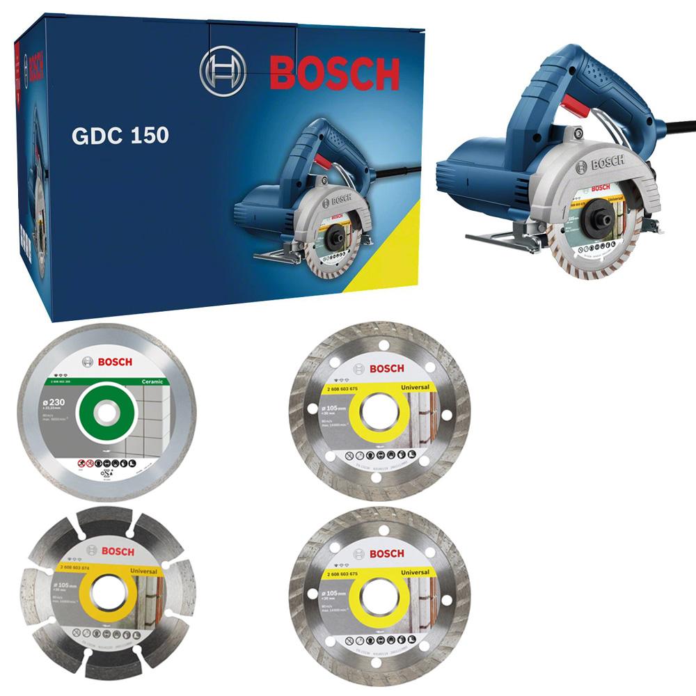 Serra Mármore Titan 1500W 220V C/4 Discos GDC150 - Bosch