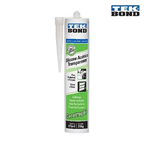 Silicone Acetico 270ml/256g Transparente - Tekbond