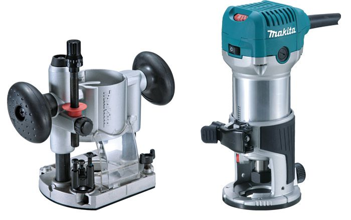 Tupia Manual 710W RT 0700 CX 3 220V c/ 4 Bases - MAKITA