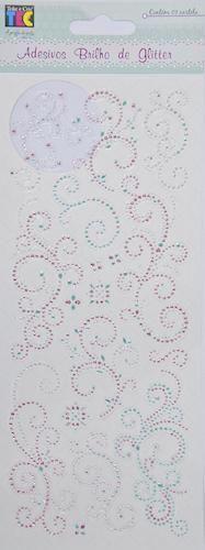 Adesivo Brilho de Glitter Arabescos Toke e Crie - 13624 - AD1369