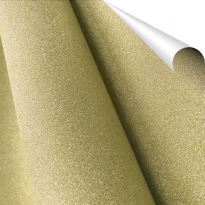 Adesivo com Glitter PP Dourado - 45cm x 1 metro