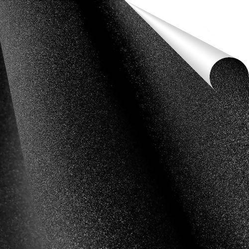 Adesivo com Glitter PP Preto - 45cm x 1 metro