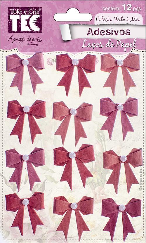 Adesivo Laços de Papel Rouge Toke e Crie - 16972 - AV013