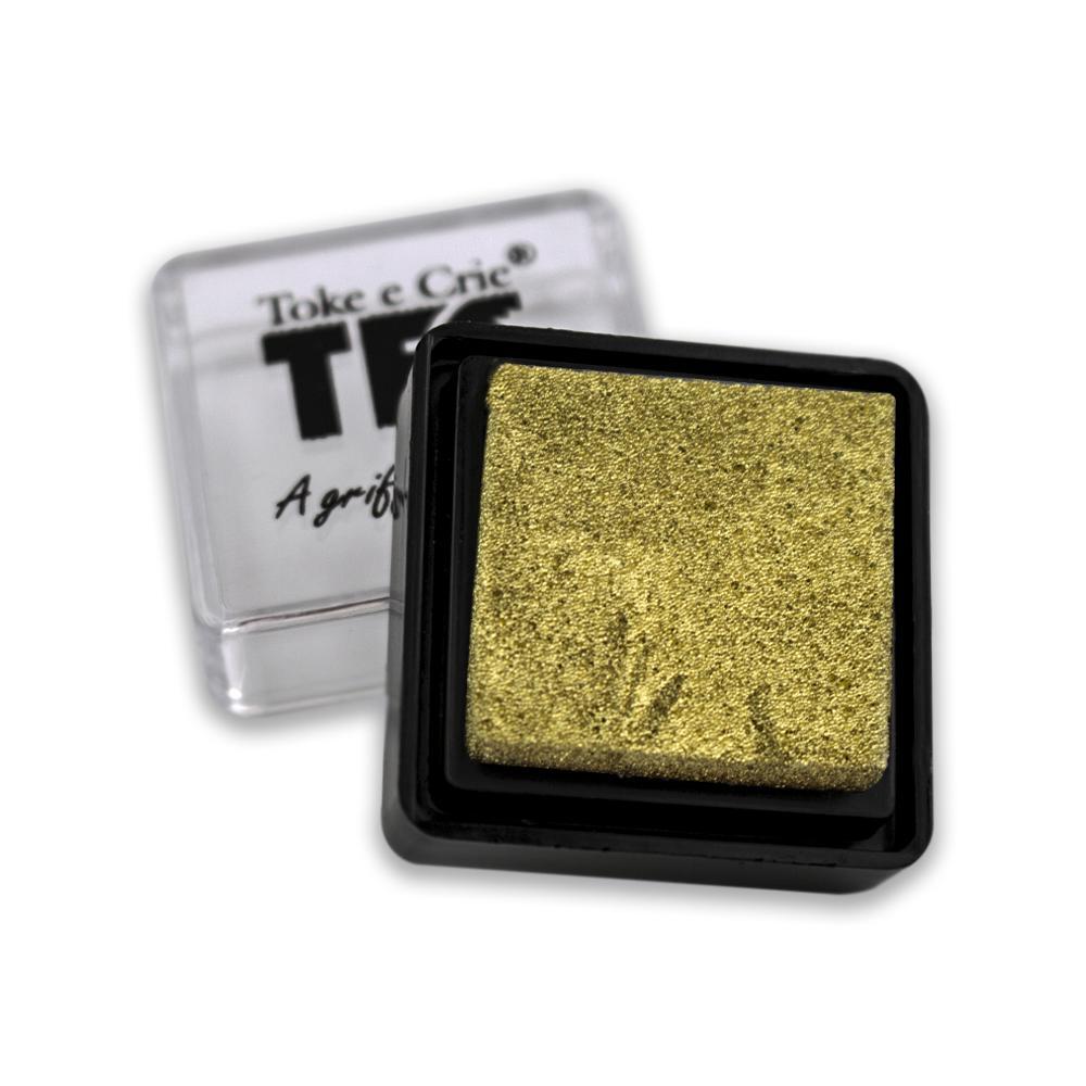 Almofada Toke e Crie P/ Carimbo Dourada - ALC010