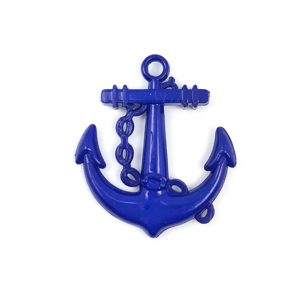 Aplique Âncora Azul (Marinheiro) 2,5x2,5cm C/ 10 unidades - MC0008