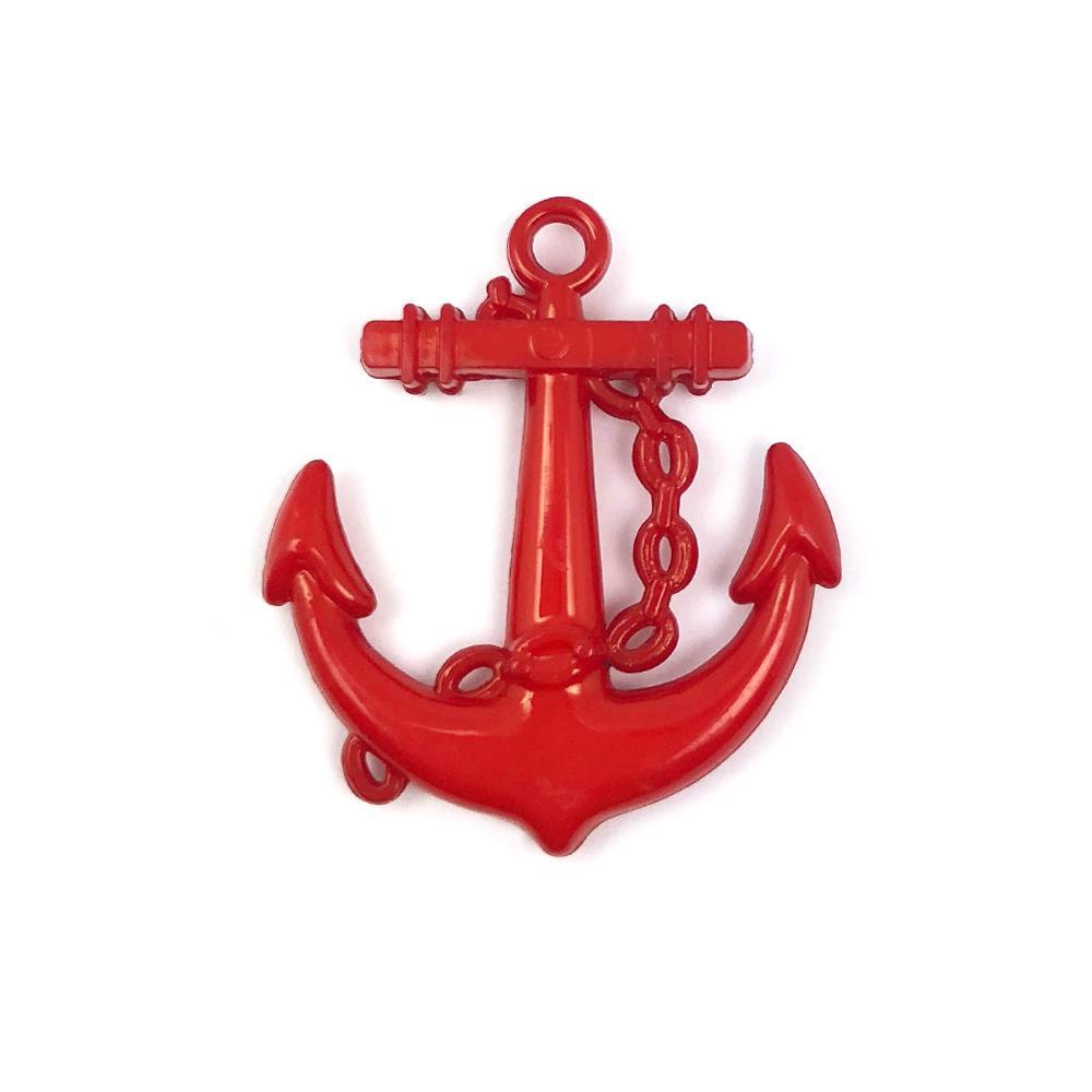 Aplique Âncora Vermelha (Marinheiro) 2,5x2,5cm C/ 10 unidades - MC0005