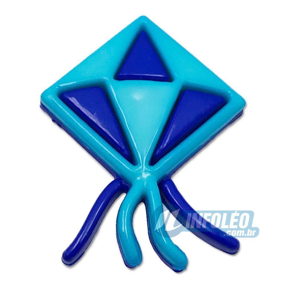 Aplique Botão Balão Festa Junina Azul / Azul Escuro - 5 unidades