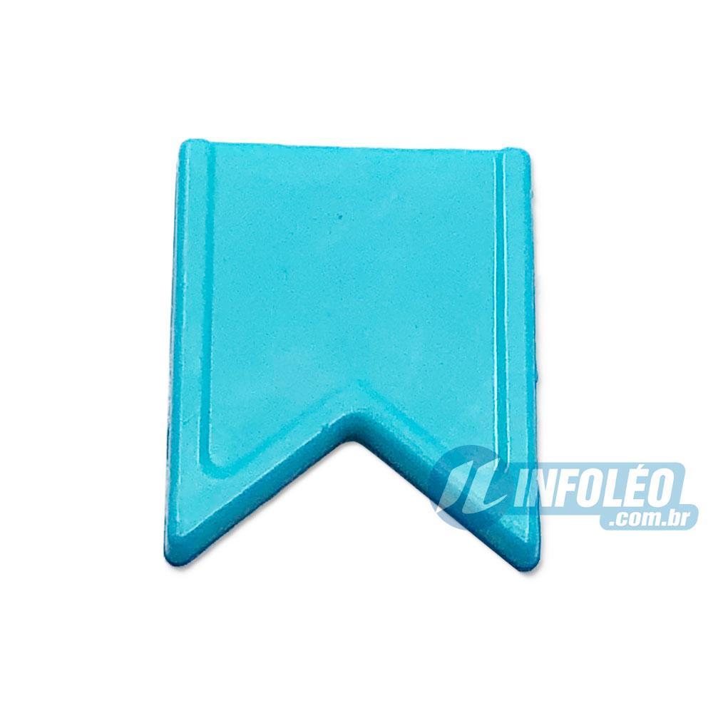 Aplique Botão Bandeira Azul Claro Festa Junina - 5 unidades