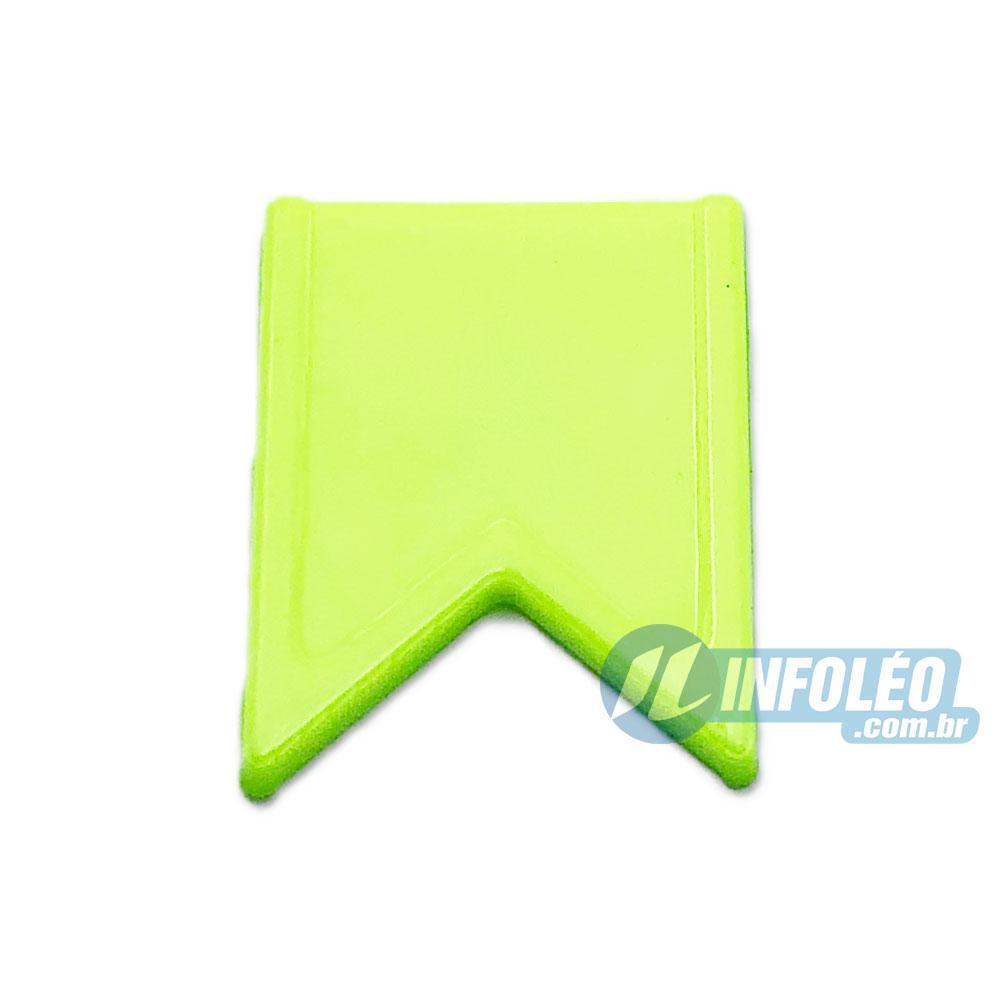 Aplique Botão Bandeira Verde Limão Festa Junina - 5 unidades