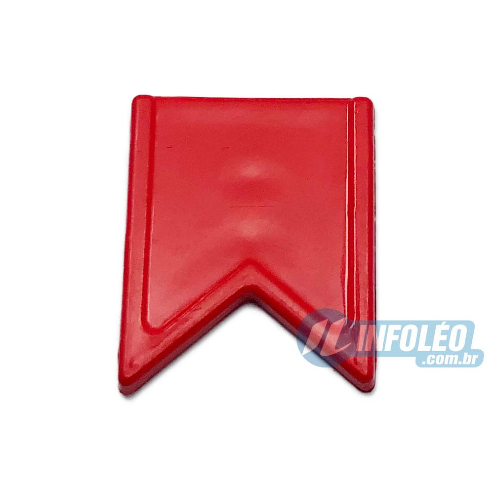 Aplique Botão Bandeira Vermelho Festa Junina - 5 unidades