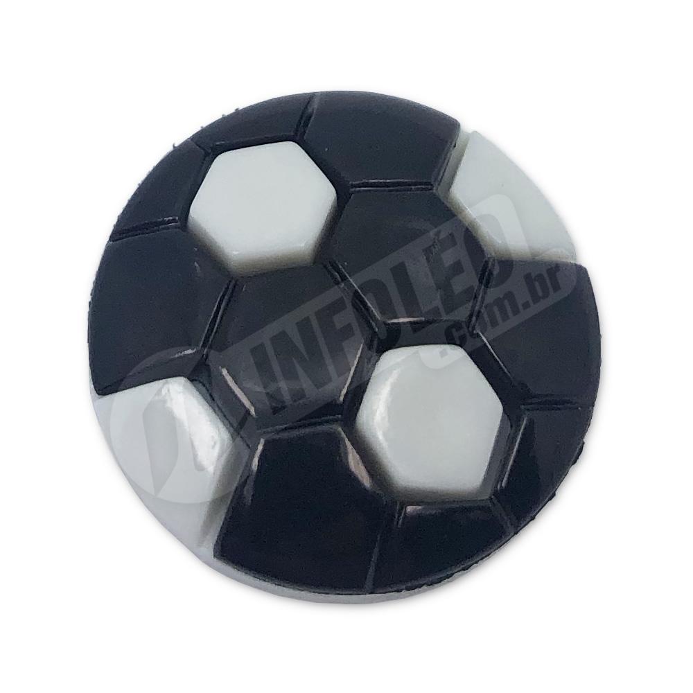 Aplique Botão Bola de Futebol 2,2x2,2cm - 5 unidades