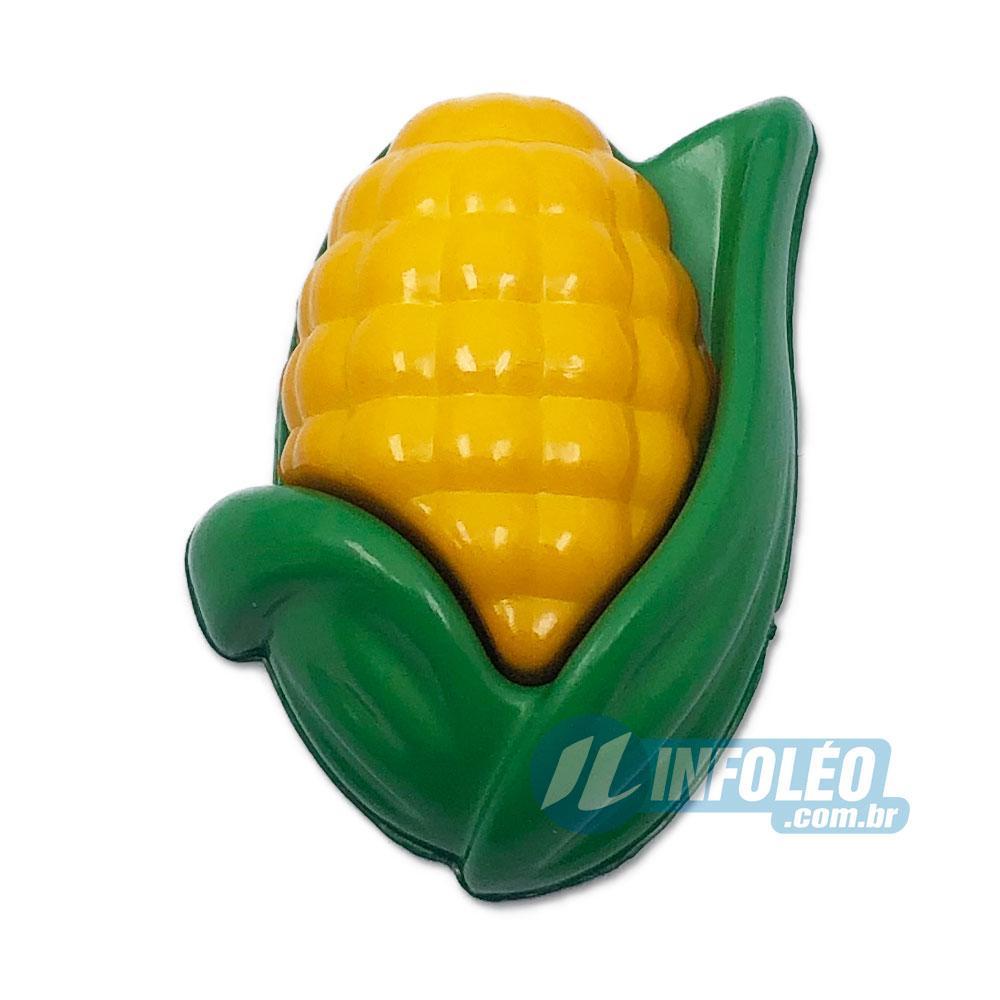 Aplique Botão Espiga de Milho Amarelo Escuro / Verde 2x2,5cm - 5 unidades