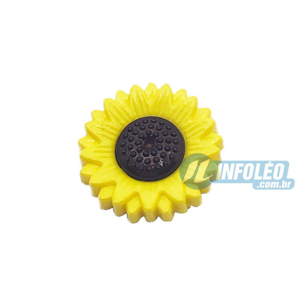 Aplique Botão Girassol 1,5x1,5cm - 5 unidades