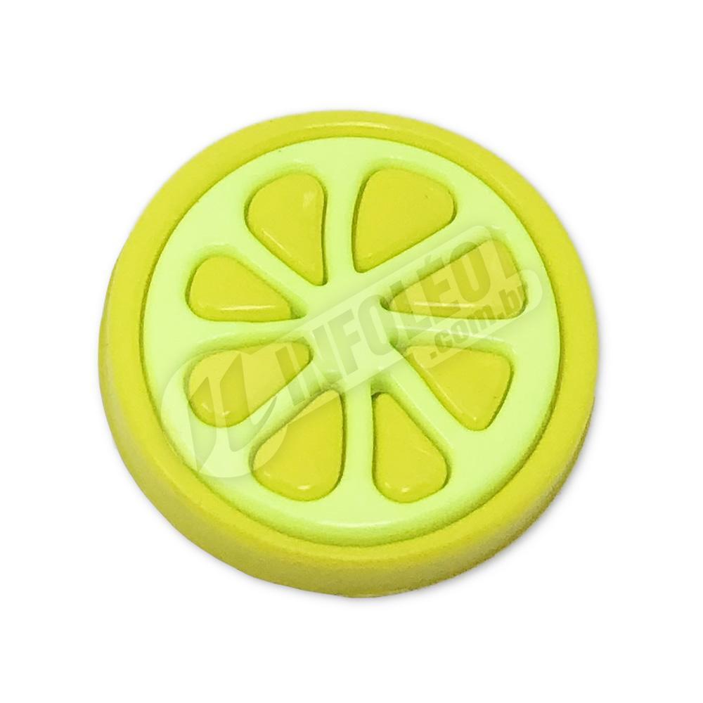 Aplique Botão Limão Amarelo 2,2x2,2cm - 5 unidades