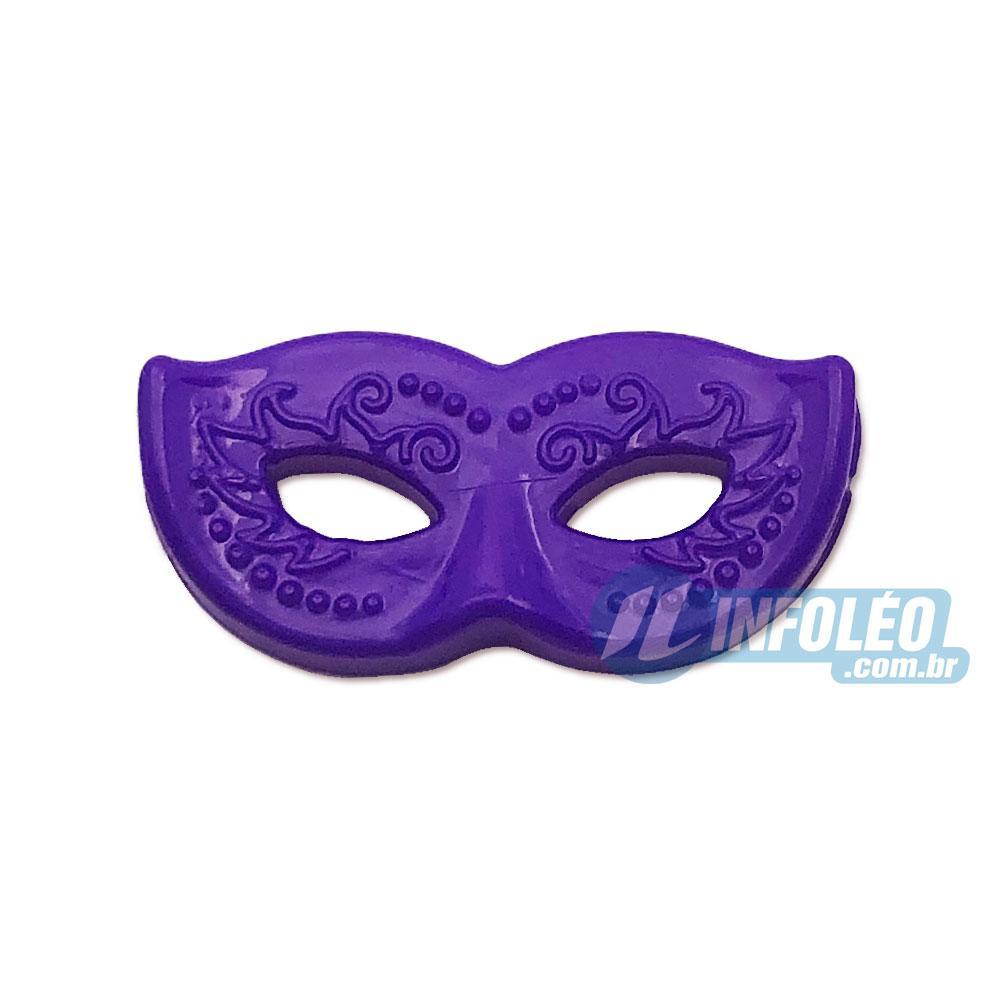 Aplique Botão Máscara Carnaval Roxa 2x1cm - 5 unidades