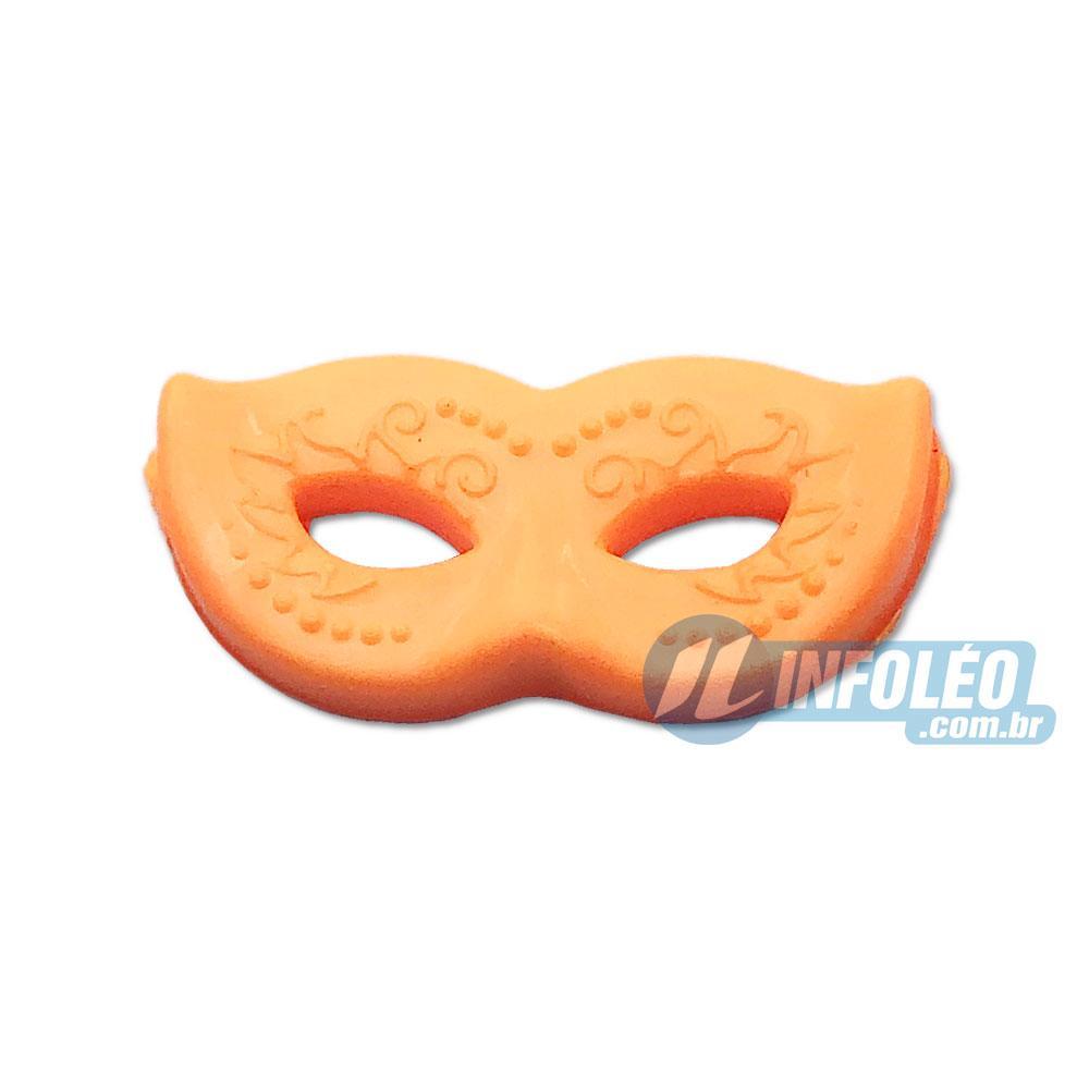 Aplique Botão Máscara Carnaval Verde 2x1cm - 5 unidades