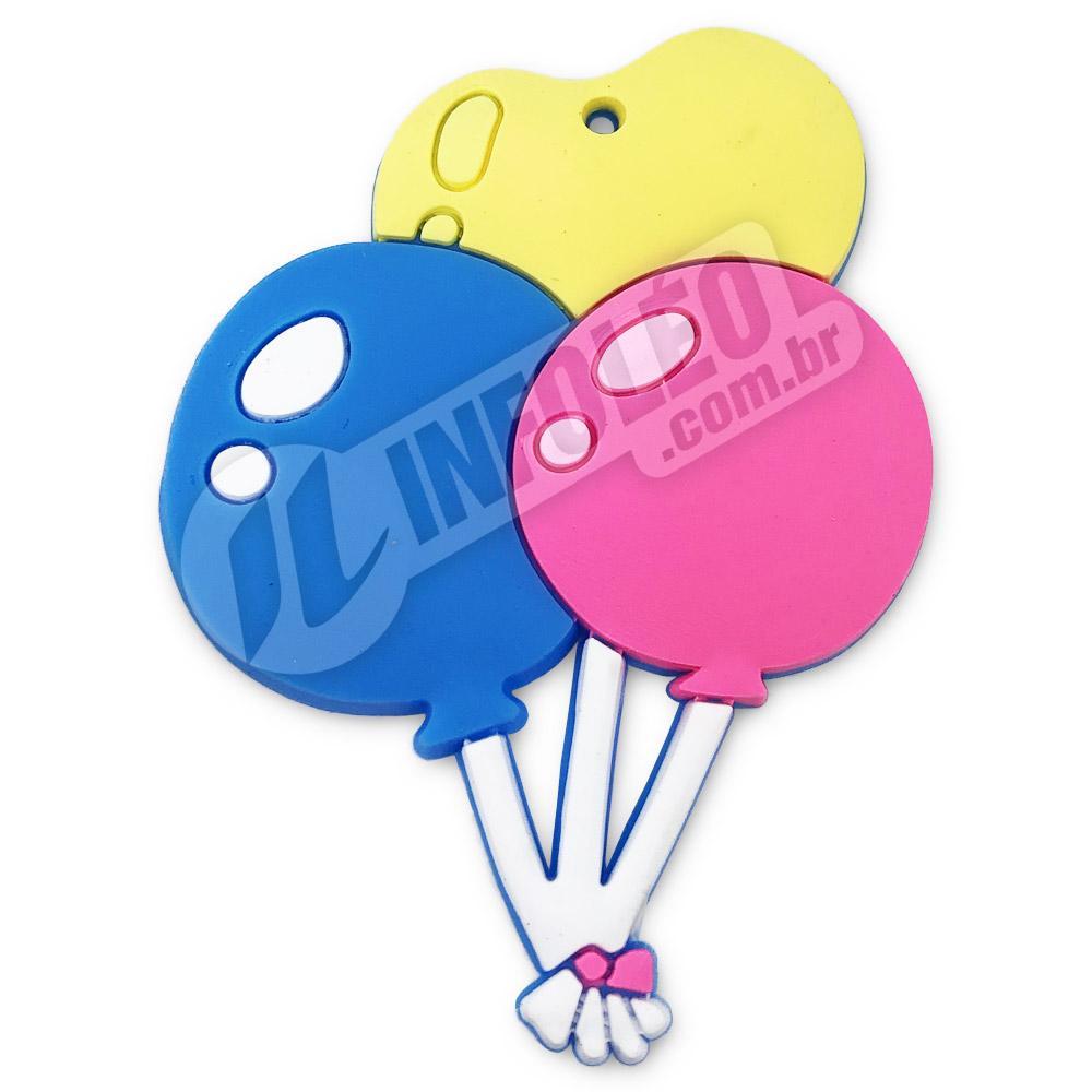 Aplique Emborrachado 3 Balões 5x6cm