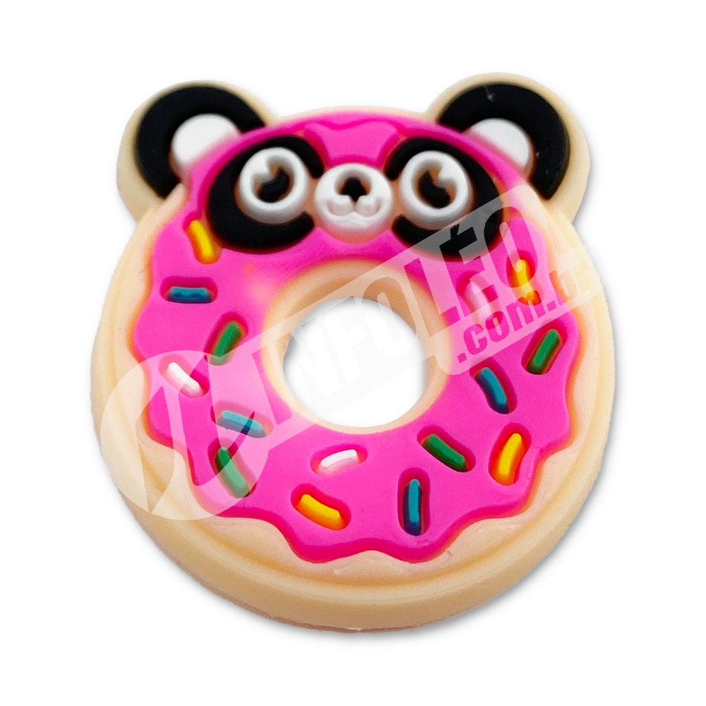 Aplique Emborrachado Donuts Urso 2,5x3cm - 2 unidades