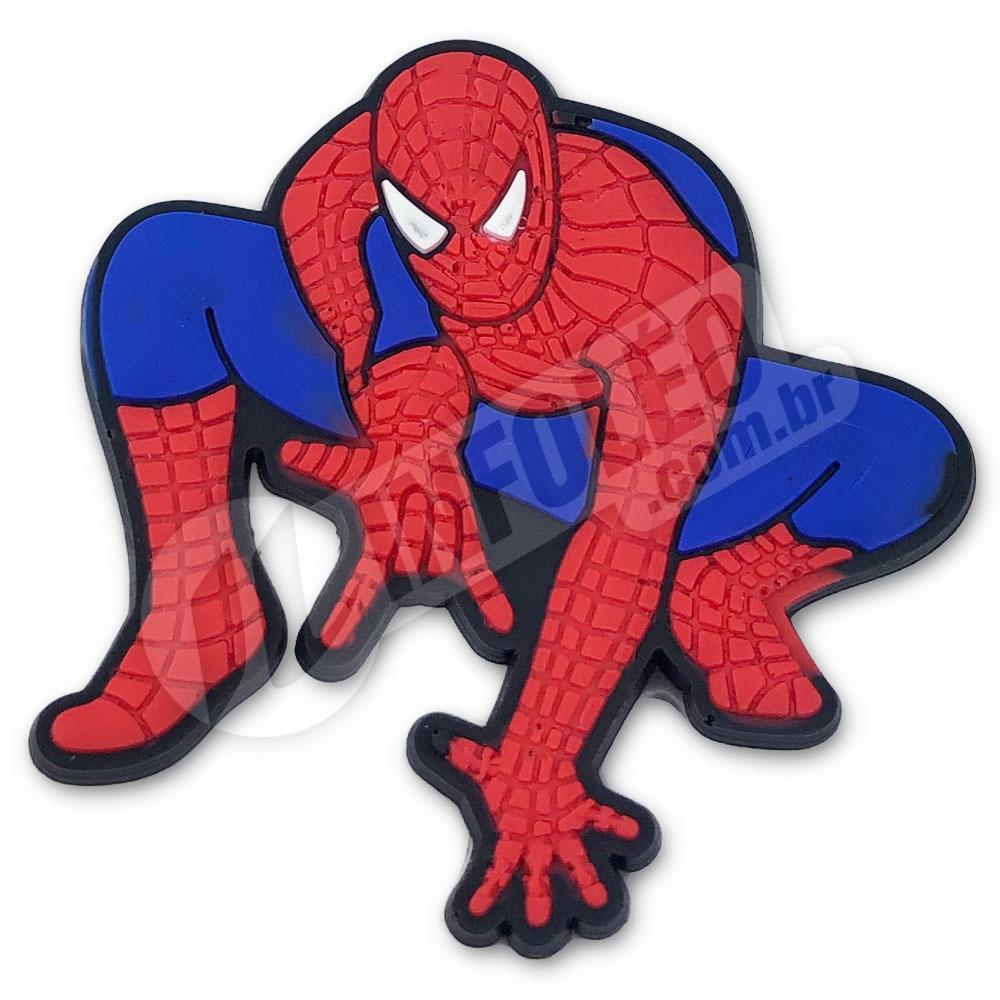 Aplique Emborrachado Homem Aranha Abaixado 5x5cm Spiderman