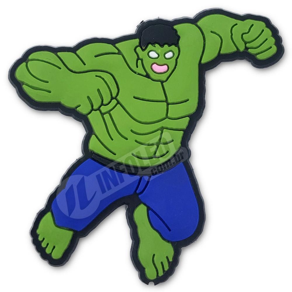 Aplique Emborrachado Hulk 5x5cm