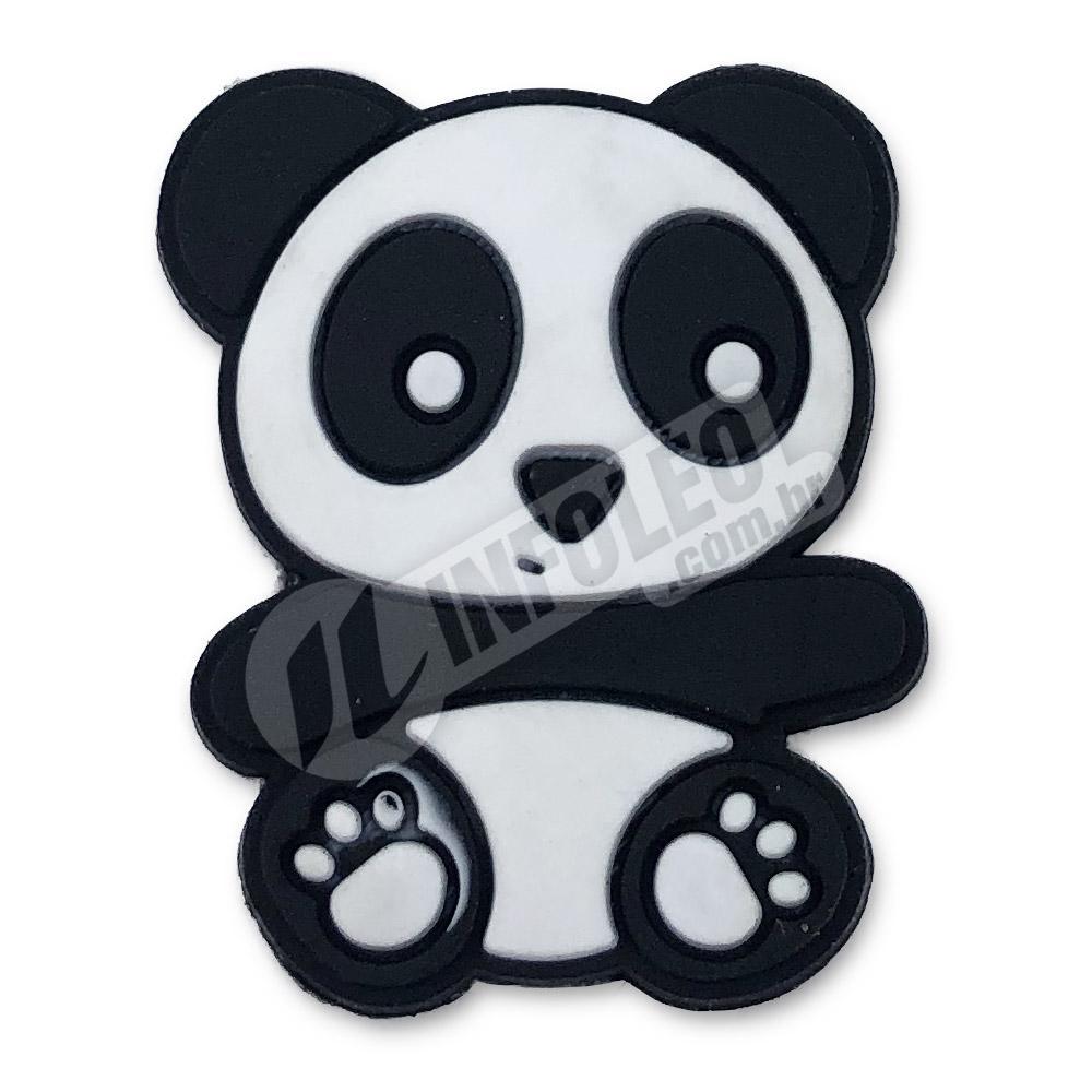 Aplique Emborrachado Panda 2,5x3cm - 2 unidades