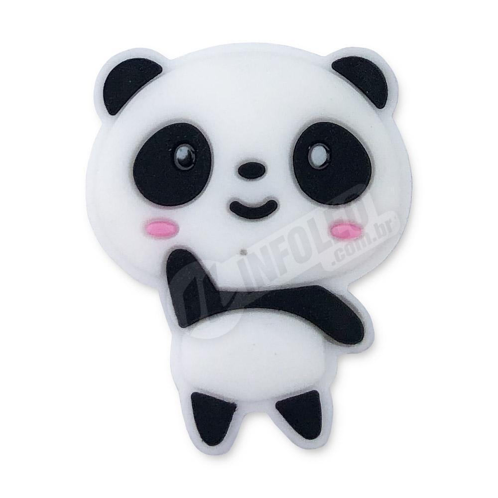 Aplique Emborrachado Panda Fêmea 2,5x3cm - 2 unidades