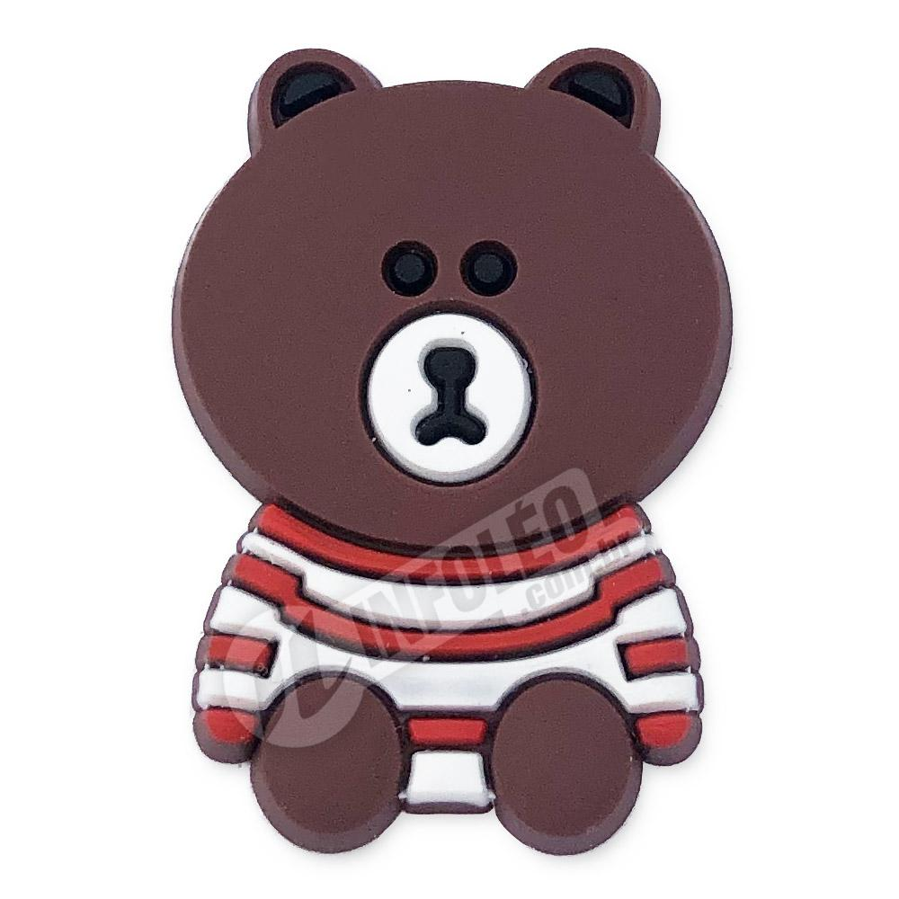 Aplique Emborrachado Urso Sentado 2,2x3,3cm