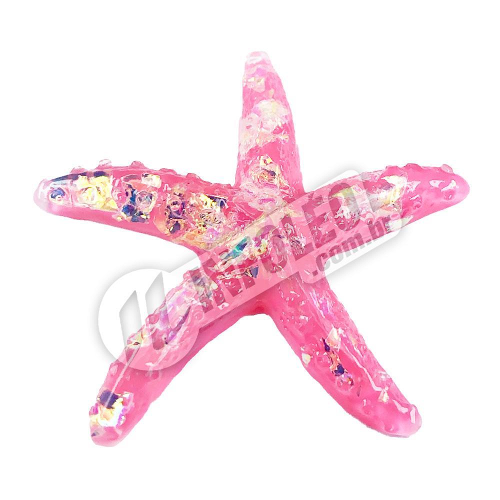 Aplique Estrela do Mar Rosa 4x4cm - 2 unidades