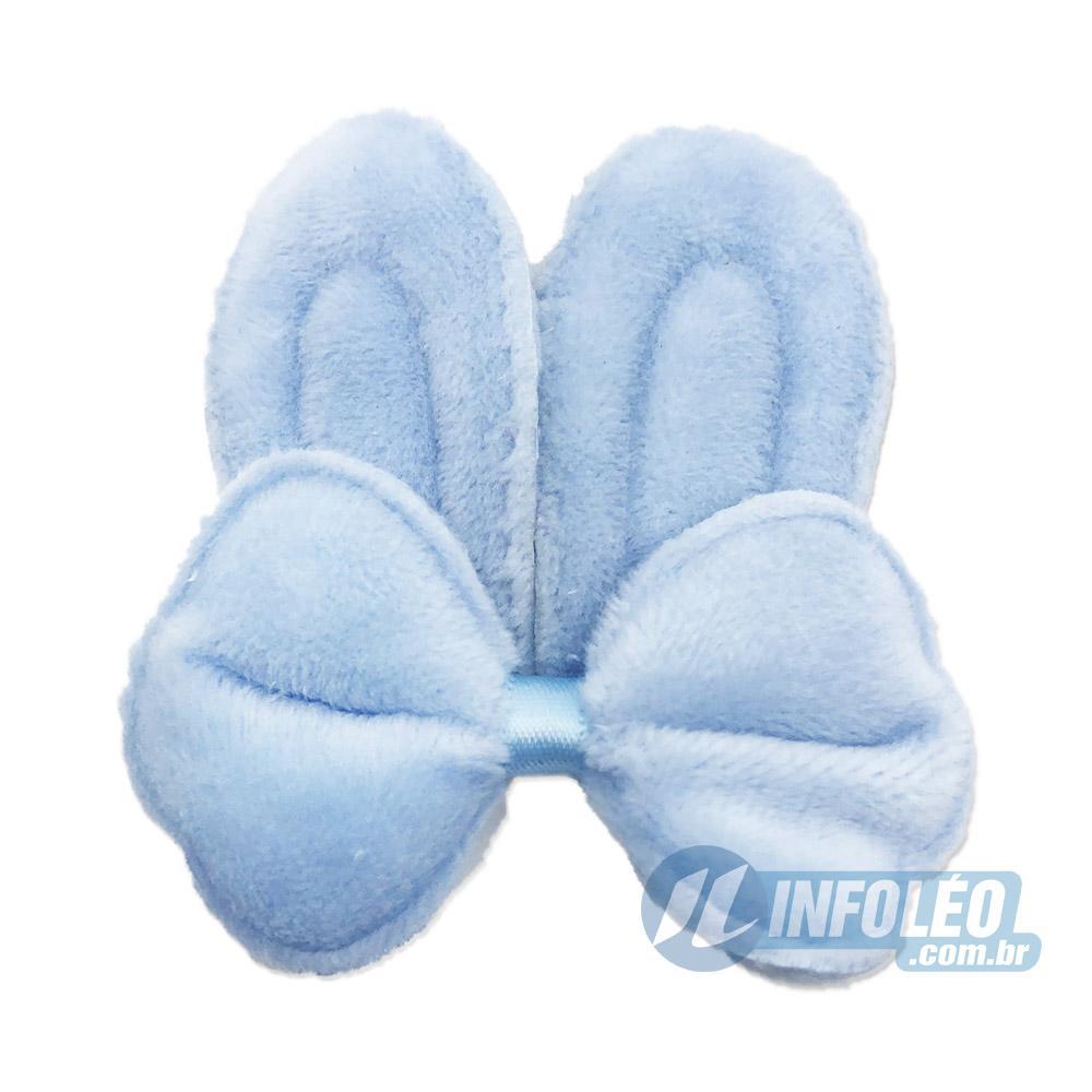 Aplique Orelha de Coelho Azul com Laço Páscoa - Unidade