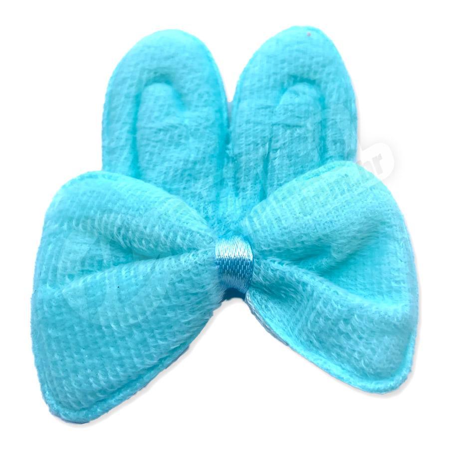 Aplique Orelha de Coelho Azul Tiffany com Laço Páscoa - Unidade