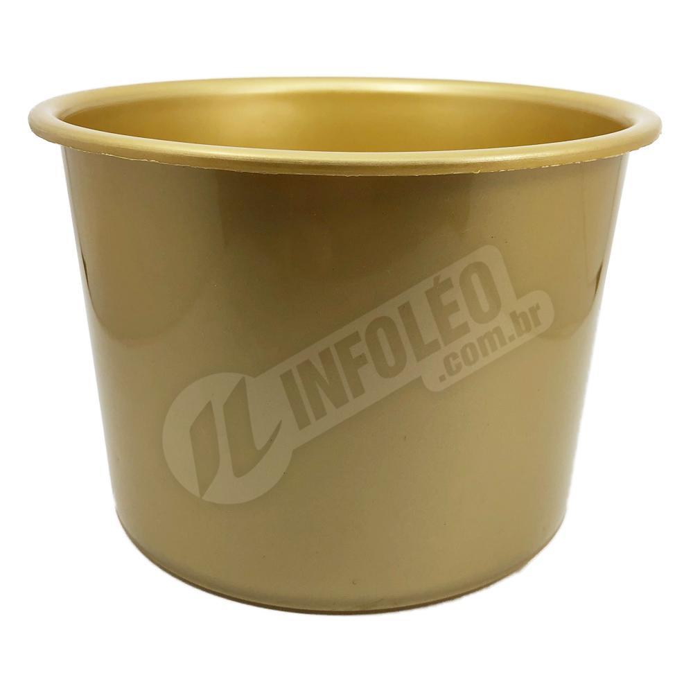 Balde de Pipoca 1,5 Litros Dourado