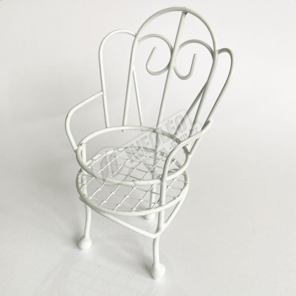 Cadeira Aramado Branco 4X9,5X3cm - Unitário