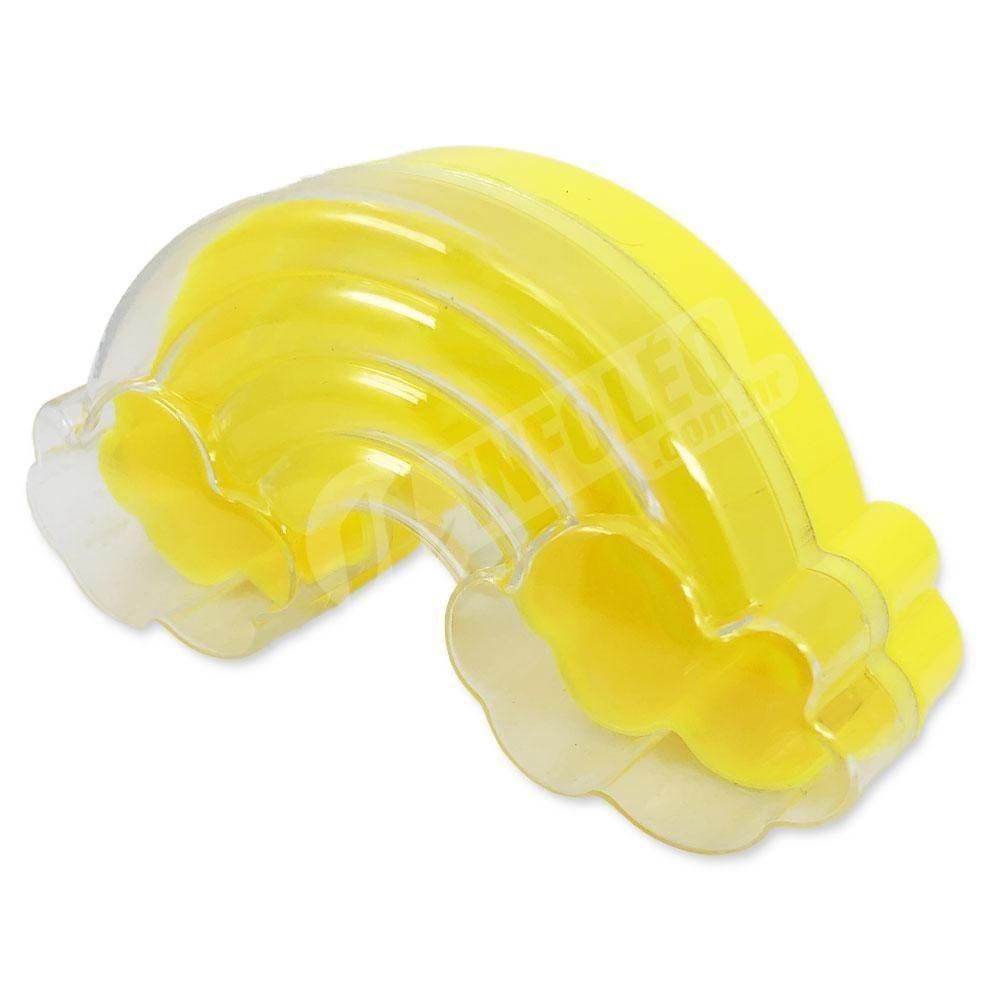 Caixa Acrilica Arco-Íris C/ Nuvem Transparente C/ Fundo Amarelo 11x 5x3,5cm - Unidade