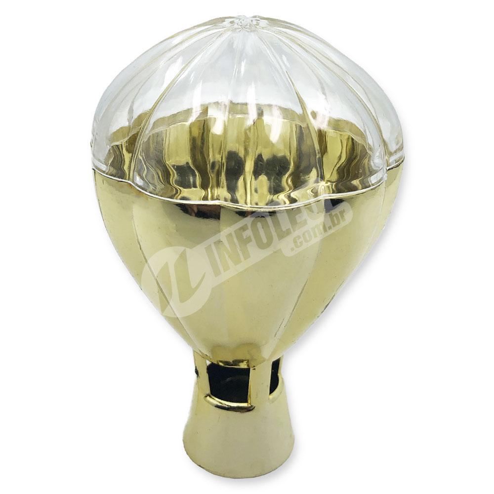 Caixa Acrilica Balão Dourado 6,5x10cm - Unidade