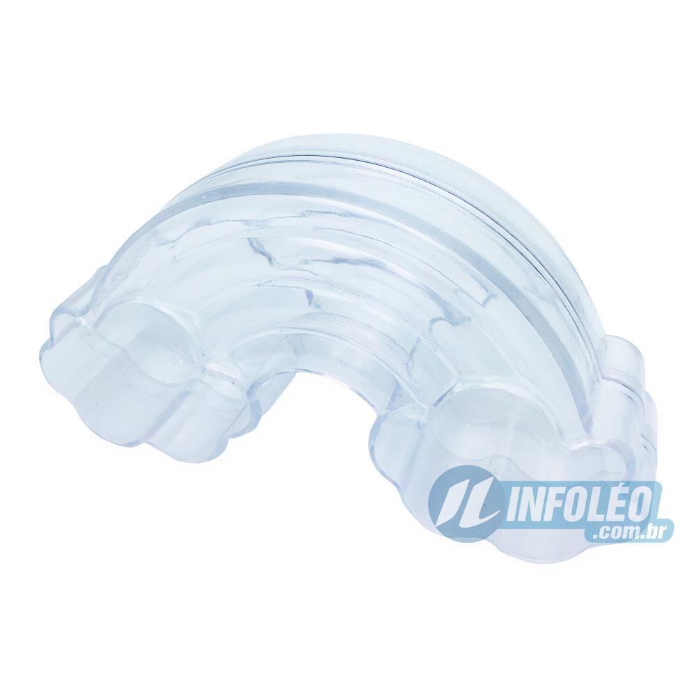 Caixa Acrilica Bóia Rosquinha Branca 6x2cm - Unidade