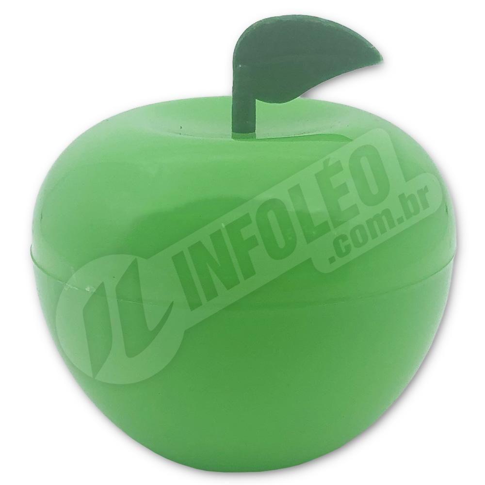 Caixa Acrílica Maça Verde 5x5x5cm