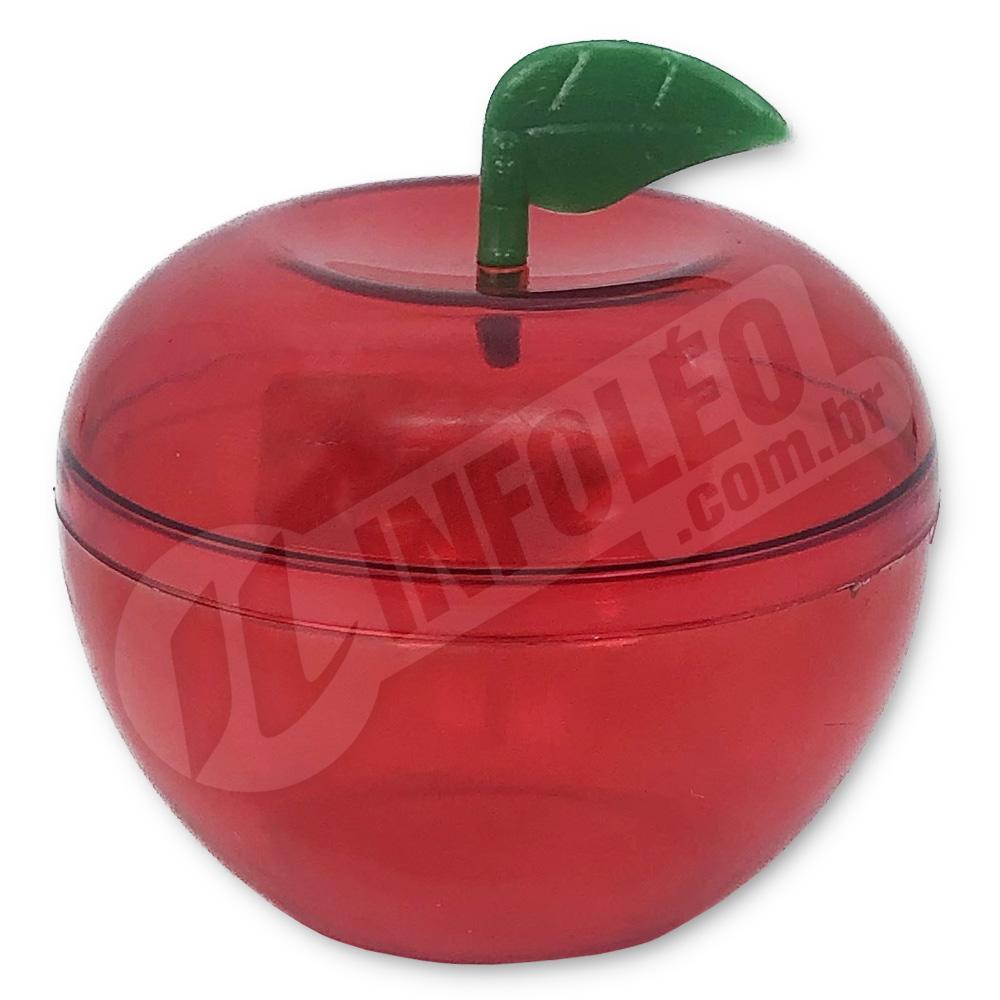 Caixa Acrílica Maça Vermelho 5x5x5cm