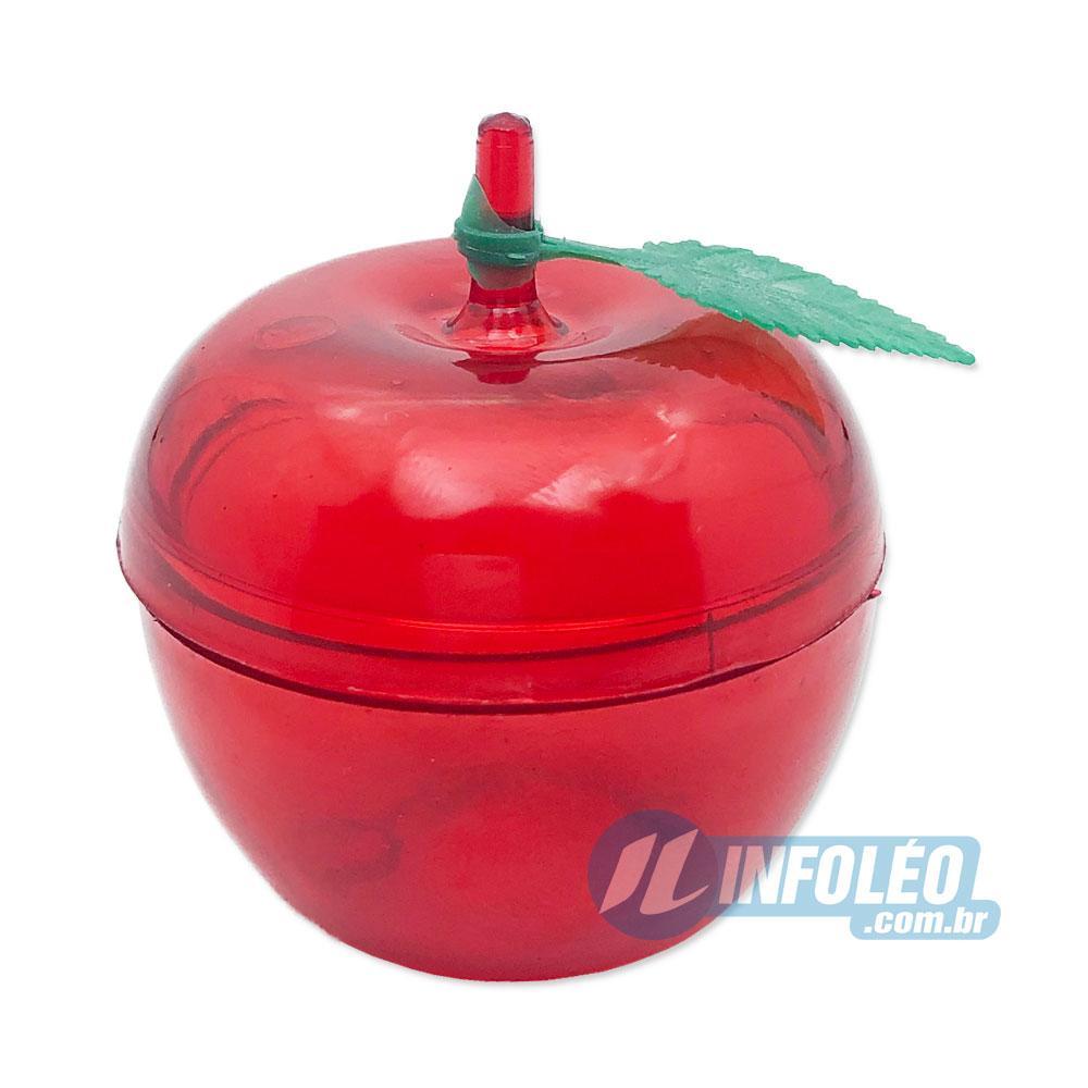 Caixa Acrilica Mini Maça Vermelho 5x5x5,5cm - Unidade
