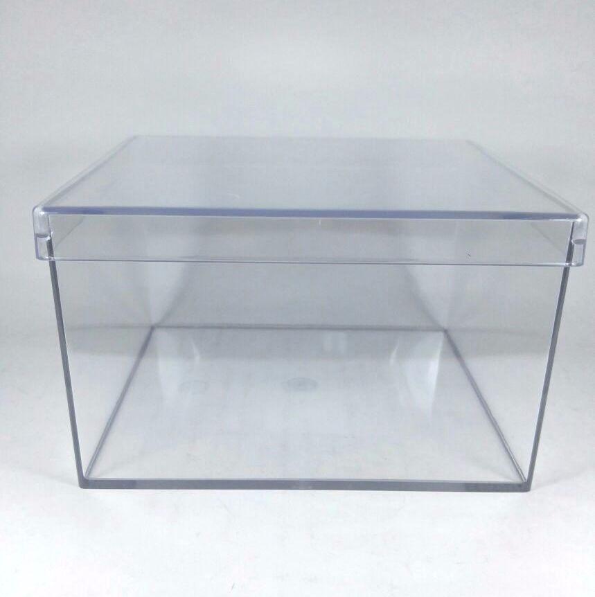 Caixa Acrilica Transparente 14x9cmx14cm - Unidade